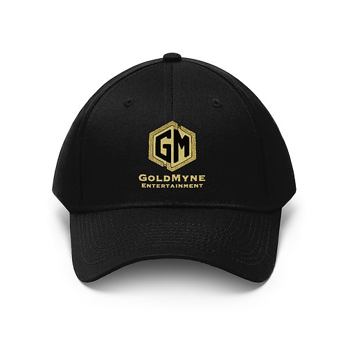 GoldMyne Embroidered Logo Twill Hat Black