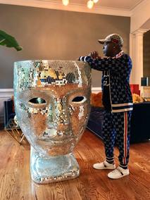 DJ Fury wearing Gucci