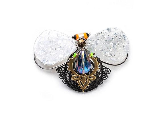 Broche Pingente Mariposa Lapidado
