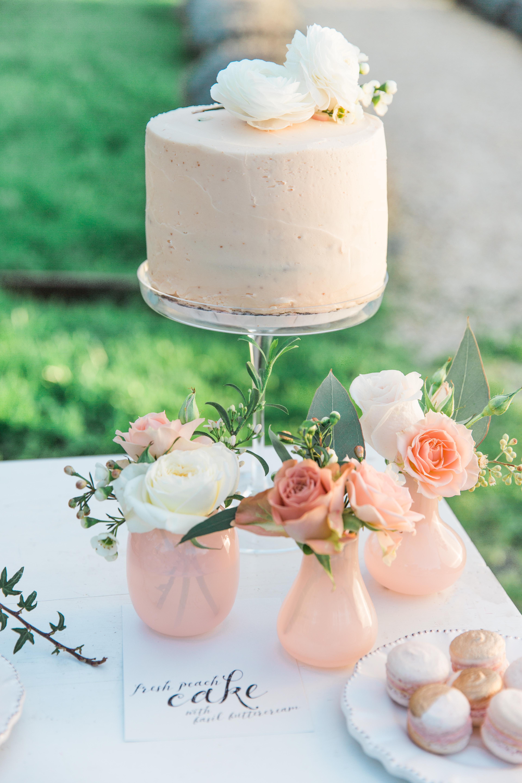 Peach Basil Cake