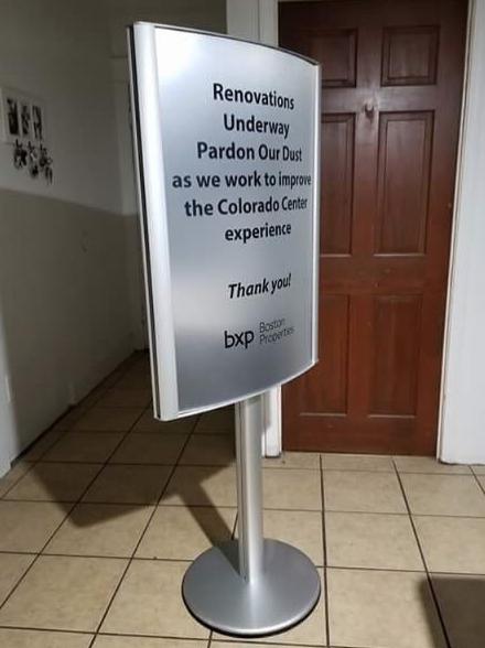 Aluminum Stand Sign