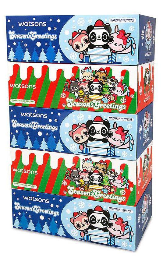 聖誕版綿柔細緻5盒裝面紙