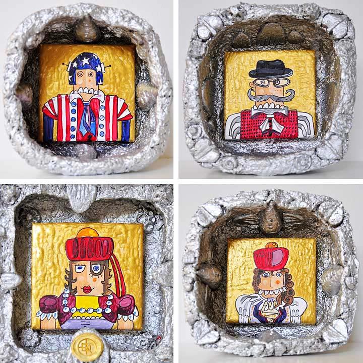 Ikonen von Franken und Amerikanern