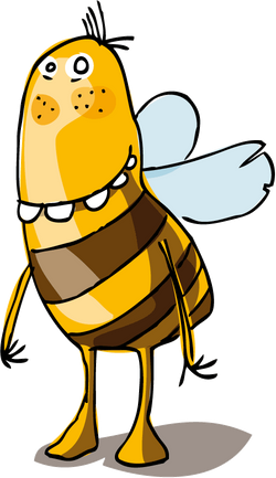 Biene als Teaser