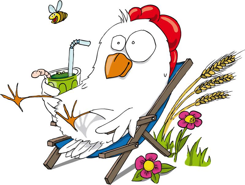 entspanntes Huhn
