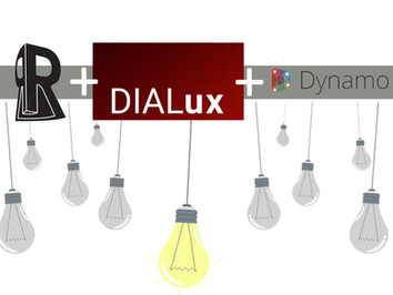 תכנון תאורה בשילוב תוכנת dialux+revit