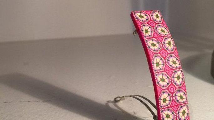 Polymer pink hair clip