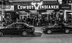 Ich bin heute Abend im Cowboys..