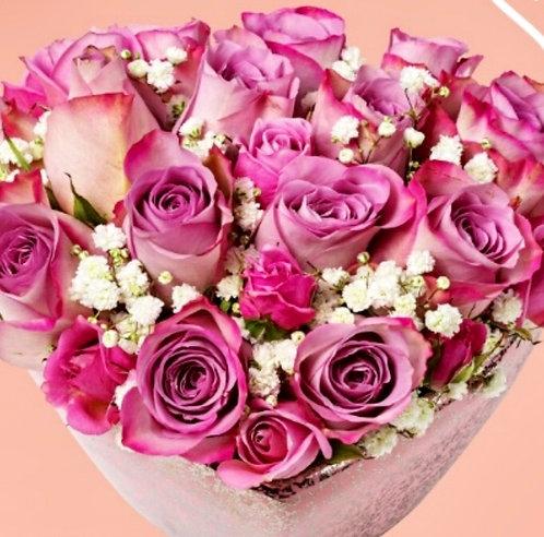 Ceramic Heart of Roses