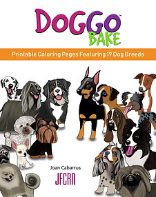Doggo Bake Printable Coloring Pages Featuring 19 Dog Breeds (1st)