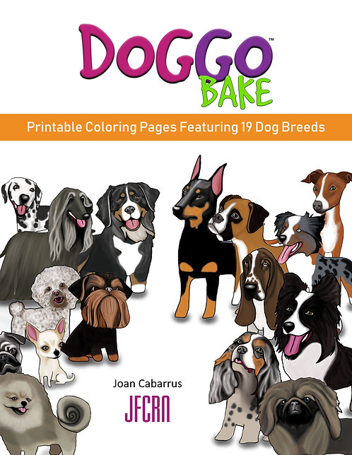 DoggoBake Printable Coloring Pages Featuring 19 Dog Breeds (1st)