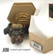 Polymer Clay Dog Sculpture Magnet