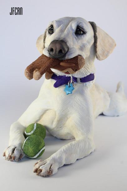 JFCRN Limited Polymer Clay Dog Sculpture