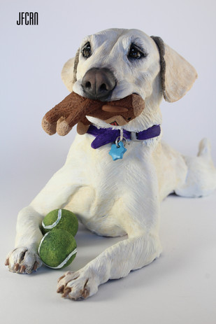 JFCRN Limited Polymer Clay Dog Sculpture