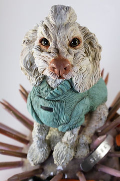 Creative Polymer Clay Custom Dog Sculpture Joan Cabarrus
