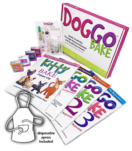 Doggo Bake Starter Kit with Books 1, 2, 3 and Kitty Bake Book (Free Shipping)