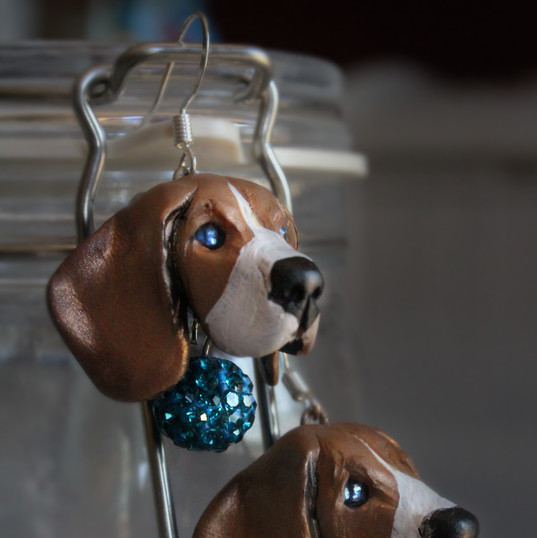 Polymer Clay Dog Jewelry Sculpture