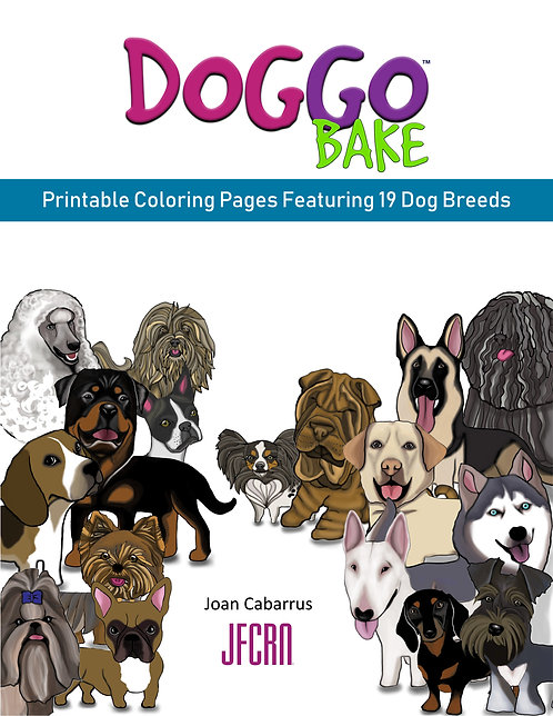 DoggoBake Printable Coloring Pages Featuring 19 Dog Breeds (2nd)