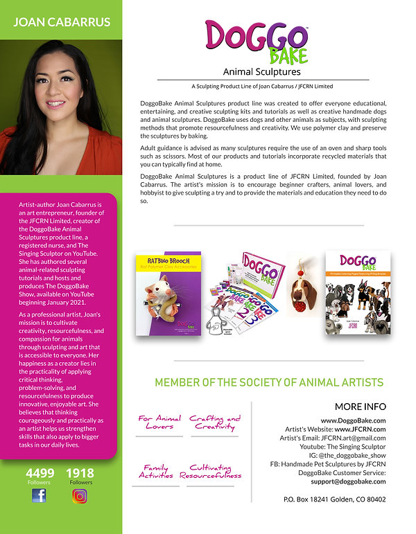 DoggoBake Animal Sculptures Press Kit Jo