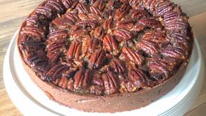 Tarta de nueces pecanas, sirope de arce y cacao (*PECAN PIE)