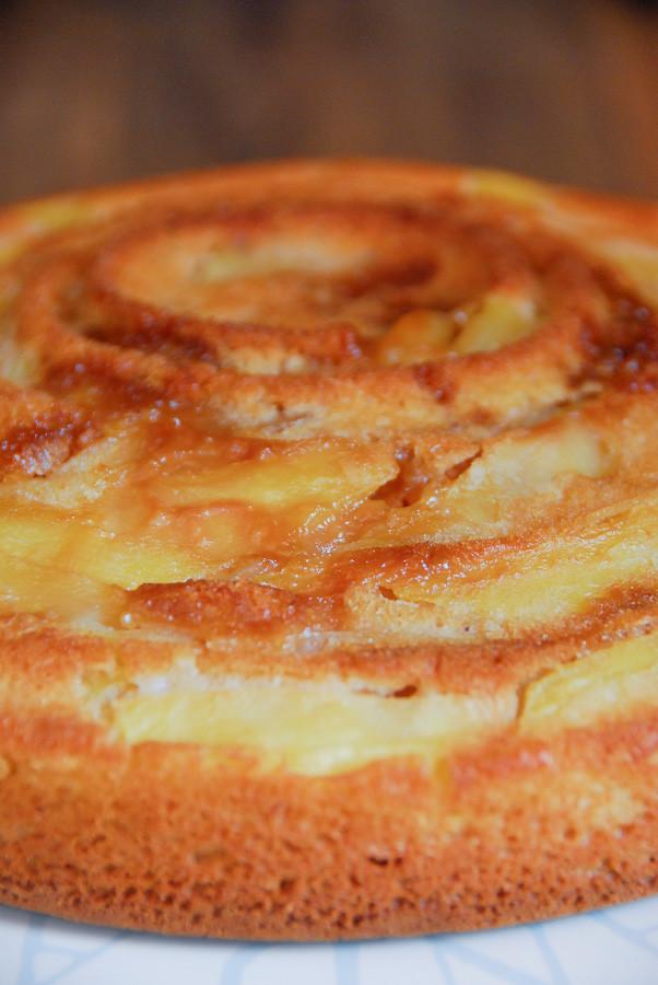 Receta de Bizcocho de manzana sin huevo