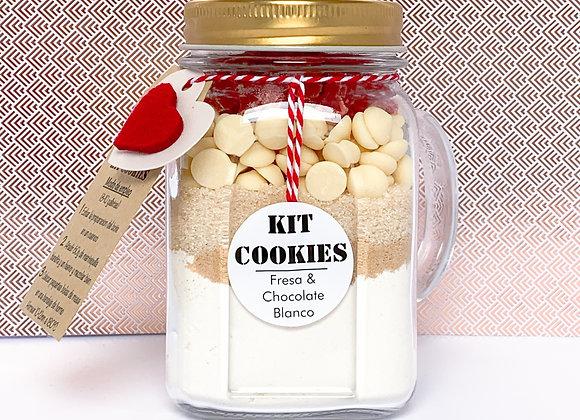 KIT COOKIES - Fresa y Chocolate Blanco