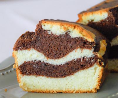 Bizcocho marmolado sin gluten