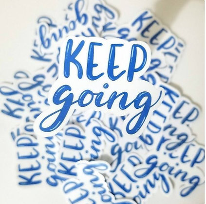 Keep Going Handlettering Die-cut Vinyl Sticker