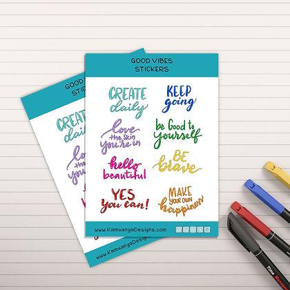 Inspirational Quotes Sticker Sheet