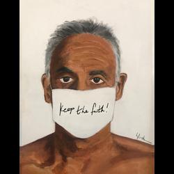 Masked Older Man