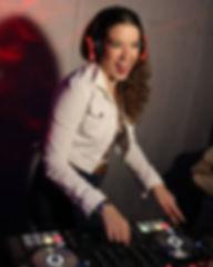 Emily Cooper at silen disco gig