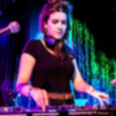 Emily Cooper at a DJ gig