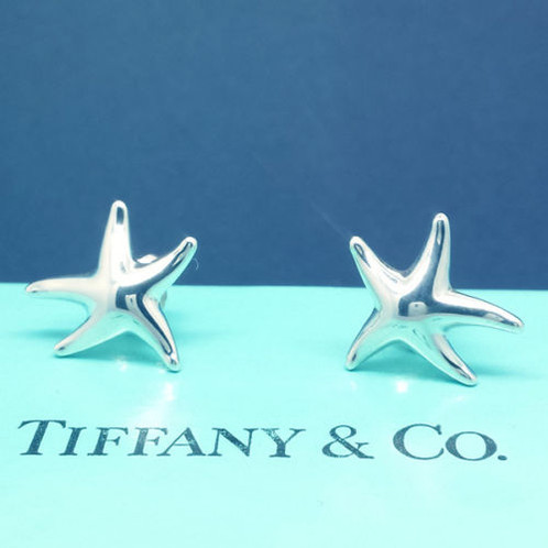 Peretti Solid Sterling Silver Starfish Earrings