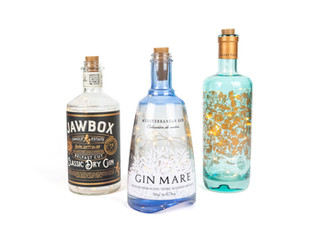 Gin Bottles With LED Lights