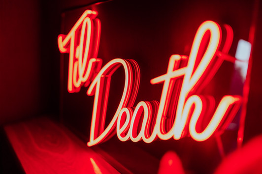 til death wedding neon 8