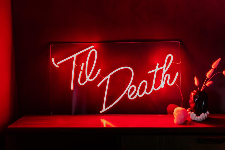 til death wedding neon 11