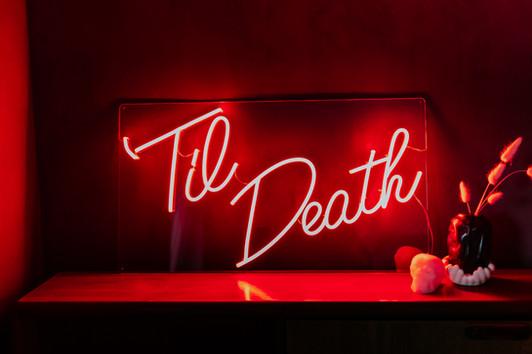 til death wedding neon 2