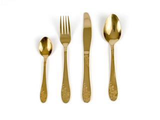 Gold Cutlery Set