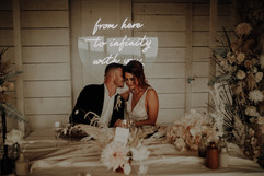 from here to infinity with you wedding neon 1