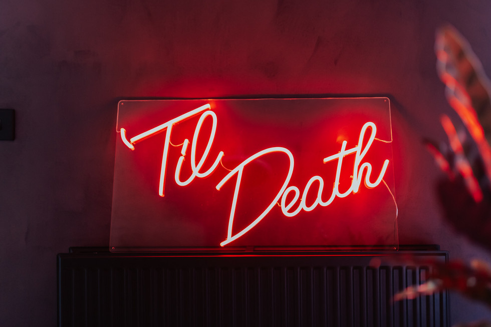 'Til Death' Neon Sign