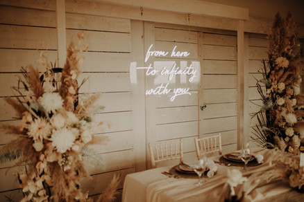 from here to infinity with you wedding neon 5