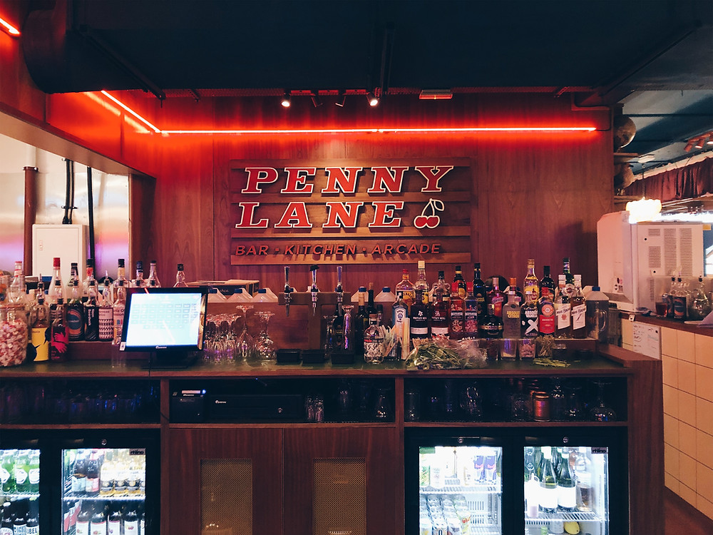 The Bar area at Penny Lane Nottingham