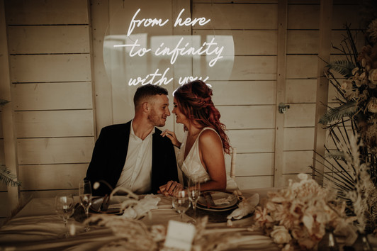 from here to infinity with you wedding neon 2