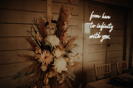 from here to infinity with you wedding neon 7