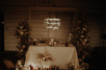 from here to infinity with you wedding neon 6