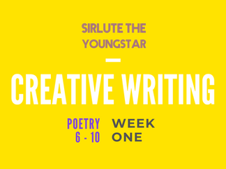 POETRY YEARS 6 - 10 | WEEK ONE