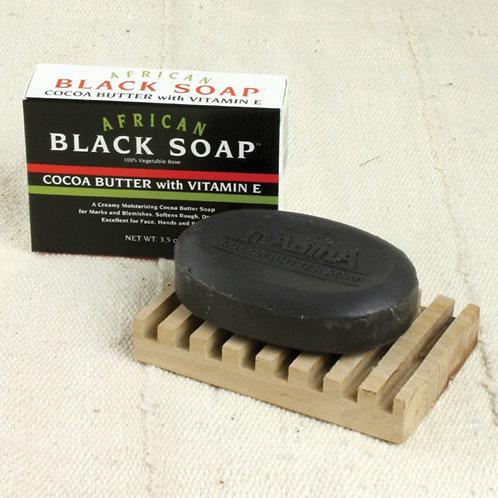 Black Soap: Cocoa Butter with Vitamin E