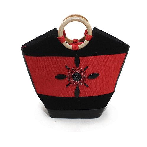 Kenyan Red Decorated Handbag