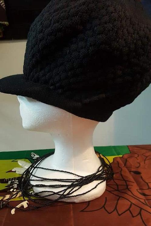 Medium Solid Kufi (Hats): Black