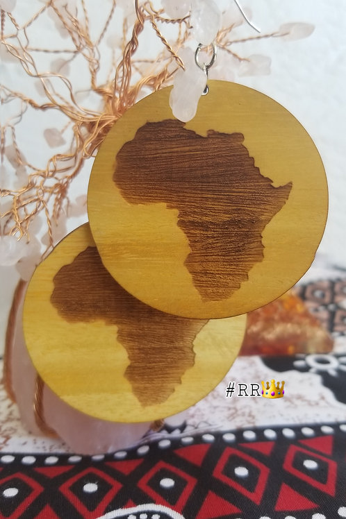 Wakanda Wooden Africa Earring Collection: Africa Circle